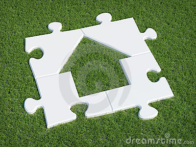 Puzzle house symbol