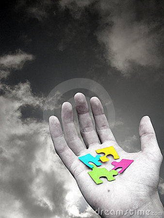 Free Puzzle In Hand Stock Images - 1415884