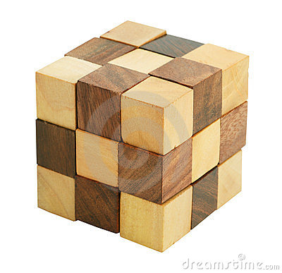 Free Puzzle In The Form Of Wooden Blocks Royalty Free Stock Image - 23953436