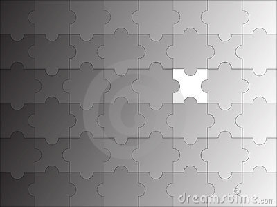 Puzzle incomplete gradient Vector Illustration