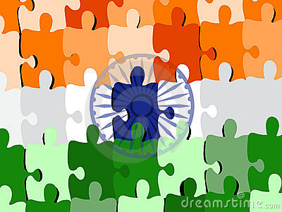 Puzzle of an Indian National flag/