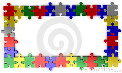 Puzzle jigsaw frame