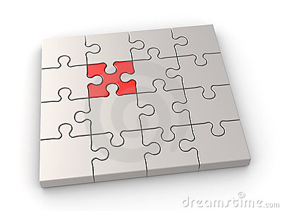 Puzzle leadership concept