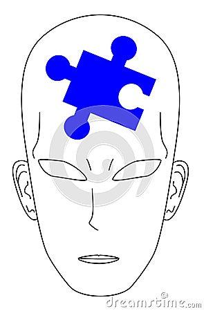 Puzzle man blue