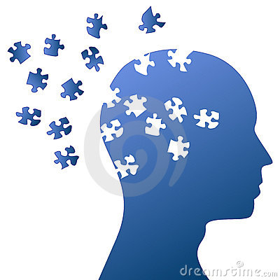 Puzzle mind and brain storming