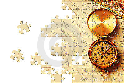 Puzzle with missing pieces