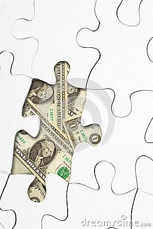 Puzzle with money