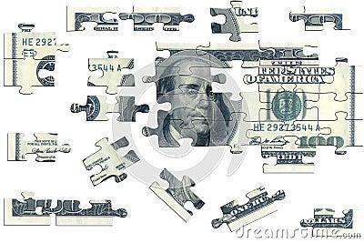 Puzzle, one hundred dolar