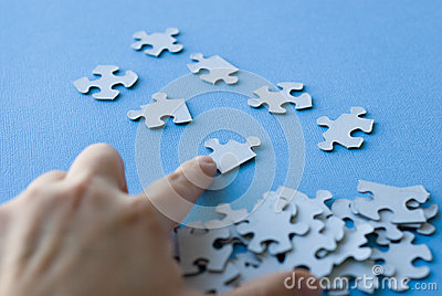 Puzzle organized by hand