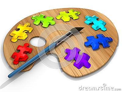 Puzzle paint