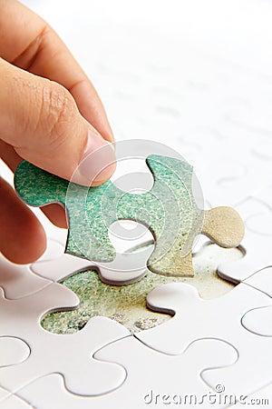 Puzzle piece concept