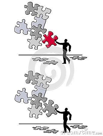 Puzzle Piece Problem Solving