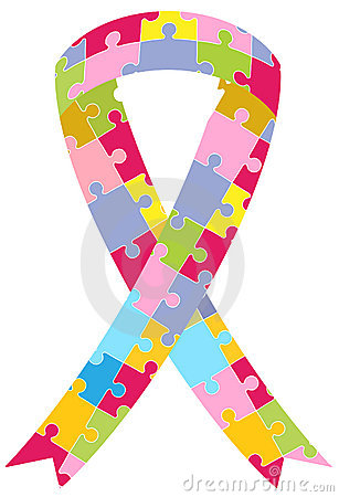 Puzzle Pieces Ribbon