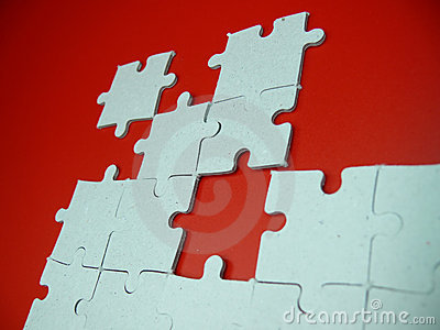Puzzle on red