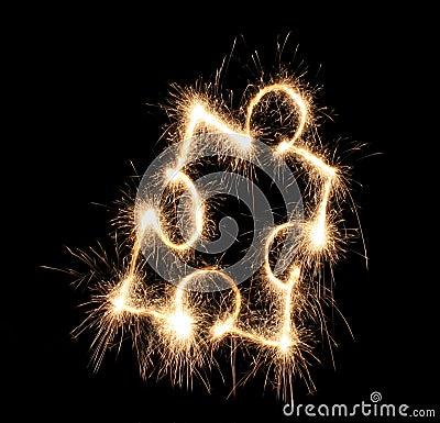 Puzzle sparkler