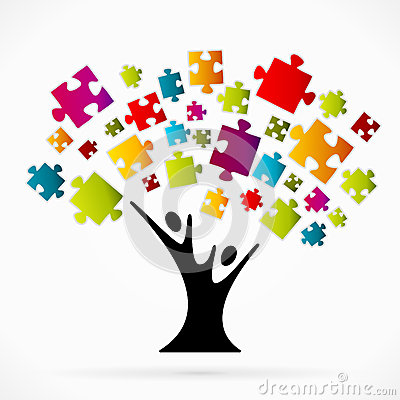 Free Puzzle Tree Royalty Free Stock Photography - 45099127