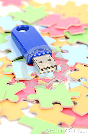 Puzzle and USB disk