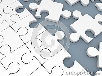 Puzzle white