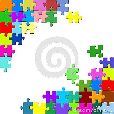 Puzzle on white backround