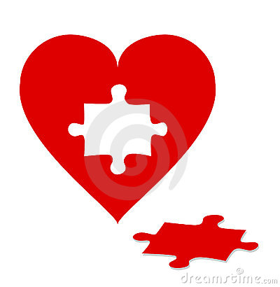 Free Puzzle With Red Heart Stock Photos - 8885543