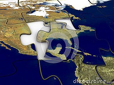 Puzzle World Map US