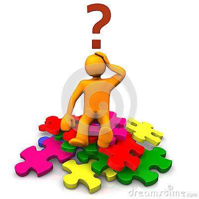 Free Puzzled Man On Jigsaw Pieces Stock Photos - 25167533