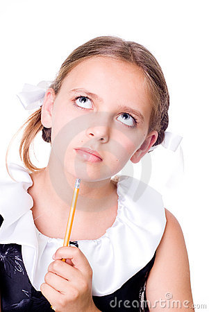 Little Girl Looking Puzzled Royalty Free Stock P