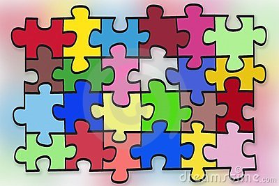 Puzzles  abstract concept