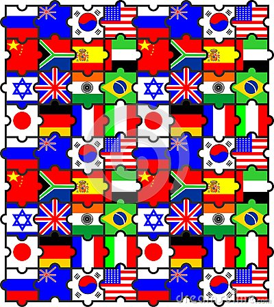The puzzles is flags