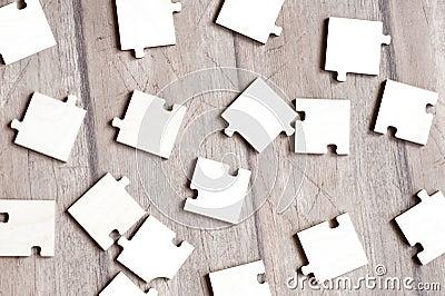 Puzzles on floor