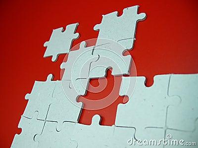 Puzzlespiel auf Rot