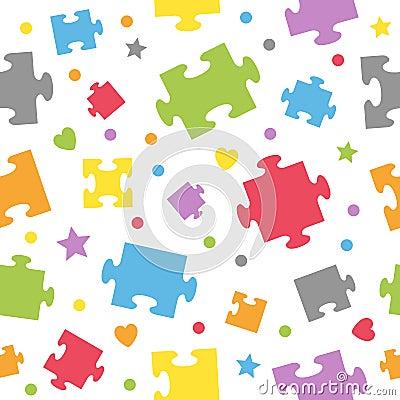 Puzzlespiel bessert nahtloses Muster aus