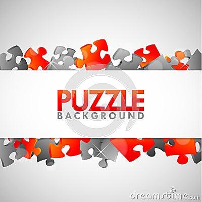Puzzlespiel-Fahne