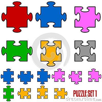 Puzzlespiel-Stücke