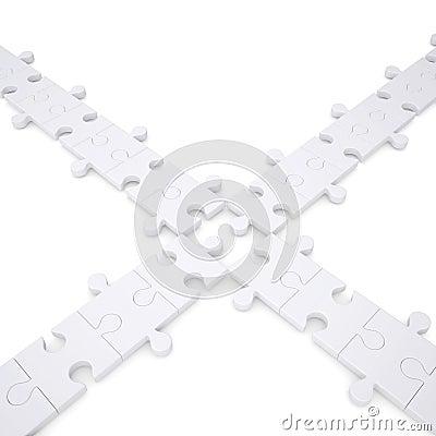 Puzzlespiele sind weiß