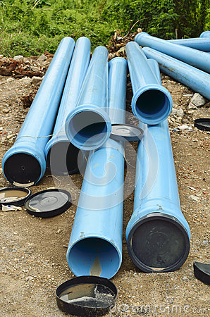 Pvc pipe on site