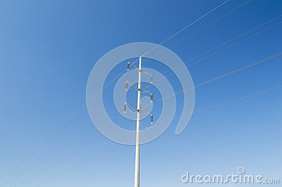 Pylon over blue sky
