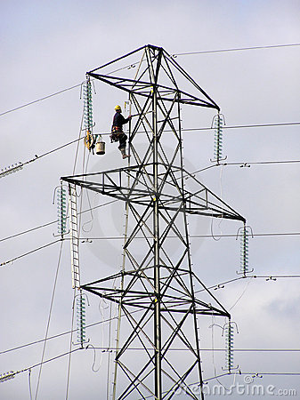 Pylon worker