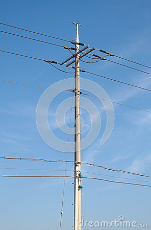 Pylons background in the sky