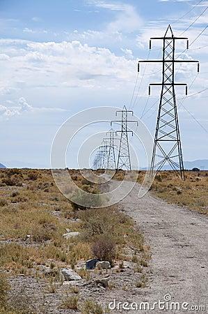 Free Pylons Of Power Royalty Free Stock Photos - 17539298