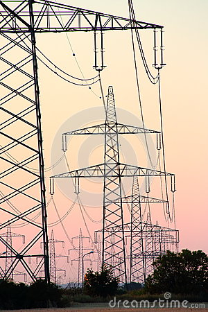 Pylons after Sunset