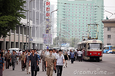 Pyongyang cityscape 2013 Editorial Stock Image