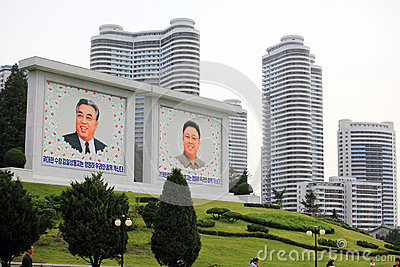 Pyongyang cityscape Editorial Image