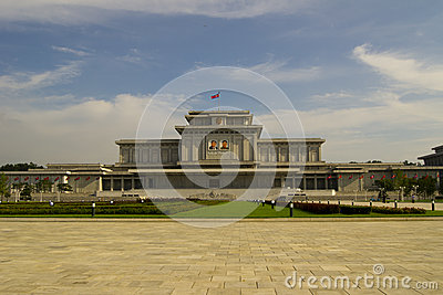 PYONGYANG, NORTH KOREA – CIRCA JULY,  2013 : Kumsusan Palace  Editorial Photography