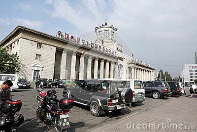 Pyongyang railway station Editorial Image