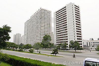 Pyongyang streetscape.2011 Editorial Stock Image
