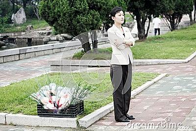 Pyongyang streetscape.2011 Editorial Stock Image