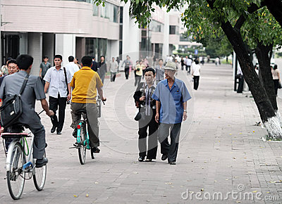 Pyongyang streetscape 2013 Editorial Stock Image
