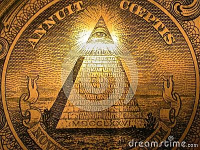 Pyramid on back of dollar