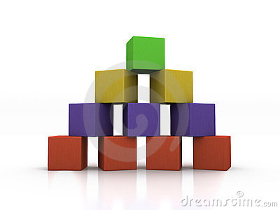 Pyramid of Blocks